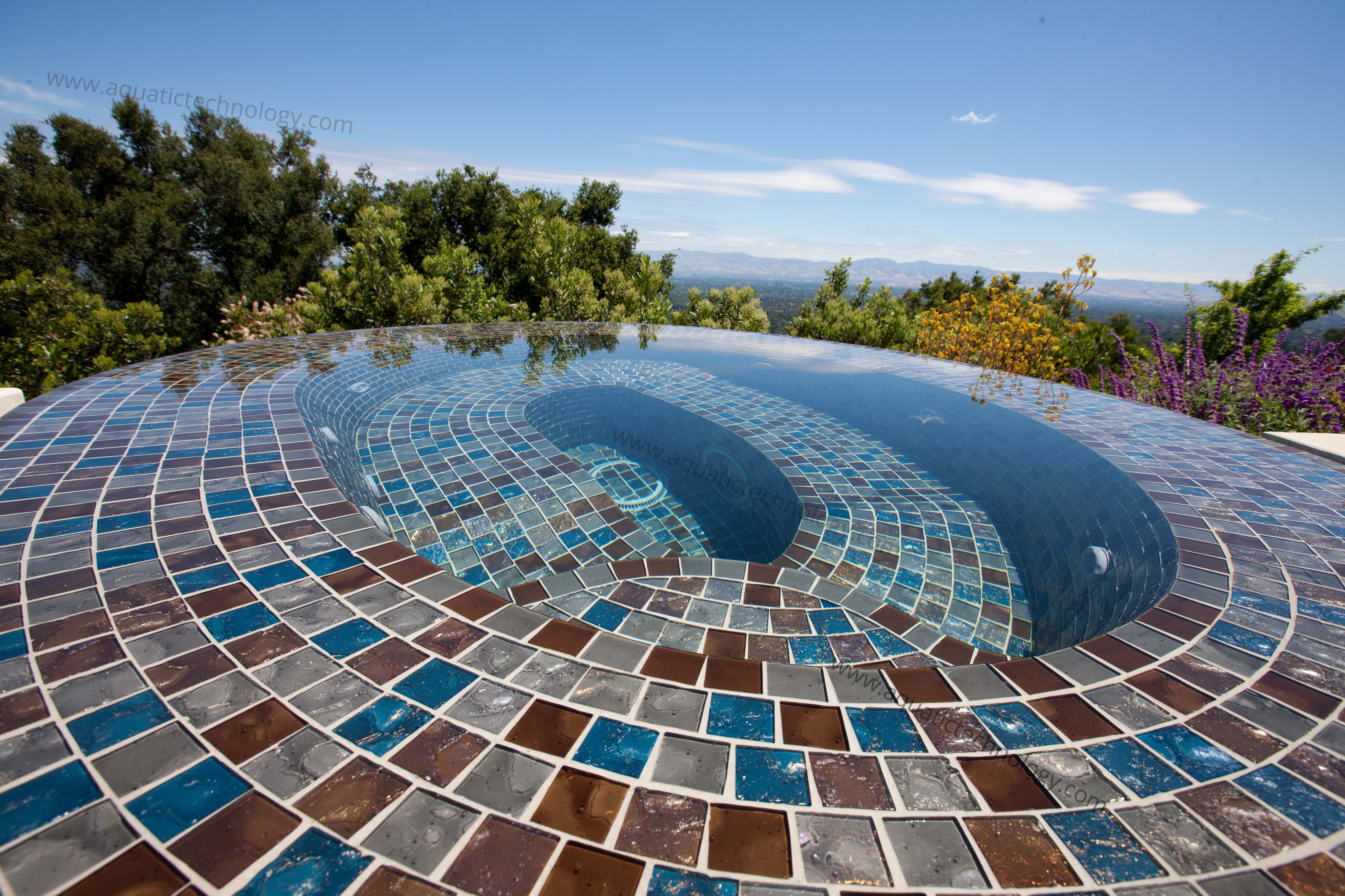 Lightstreams glass tile spa