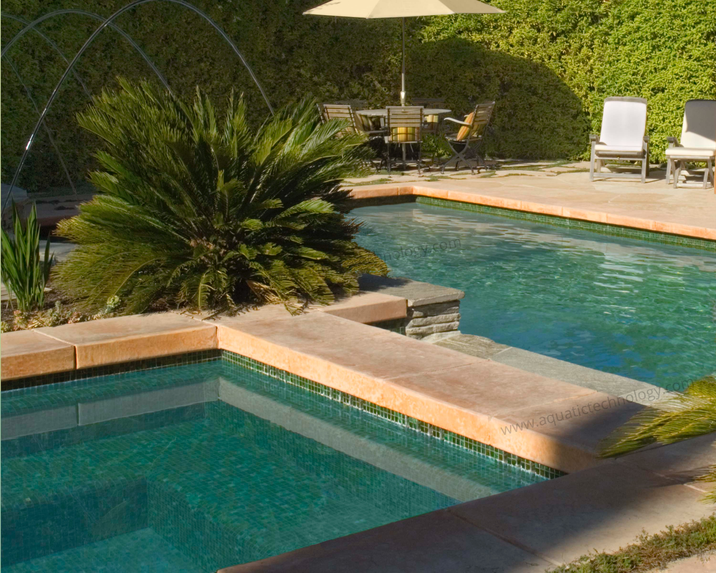 Bisazza L'Elba glass tile swimming pool spa