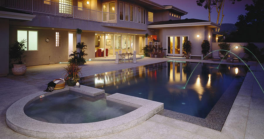 Luxury Pool Fountain